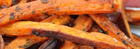 Just in Time for Football Season: Baked Brown Ale Soaked Sweet Potato Fries